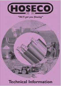 Cover of the Hoseco Technical Information Catalogue as a Link to the Technical Information Catalogue
